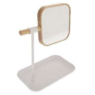 Miroir de salle de bain amovible scandi Natureo - Blanc