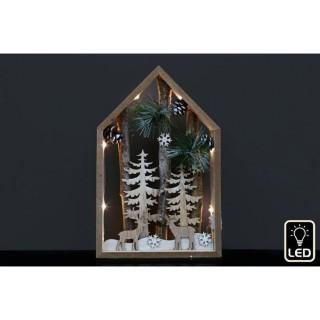 Décoration de Noël à LED Natural - H. 30 cm - Marron