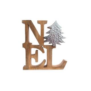 Décoration de Noël à poser Letter Ice - Argent