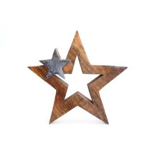 Décoration de Noël à poser Stars Ice - Argent