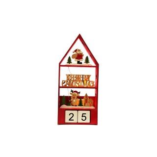 Calendrier de l'Avent date Pitsis - Rouge