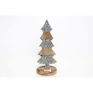 Décoration de Noël à poser Arbre à strass Ice - Argent