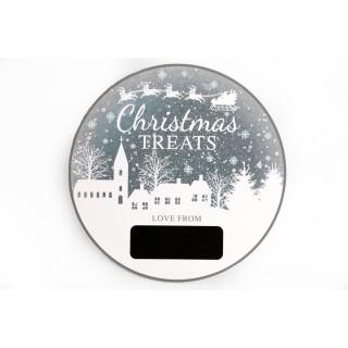 Calendrier de l'Avent rond Christmas Ice - Argent