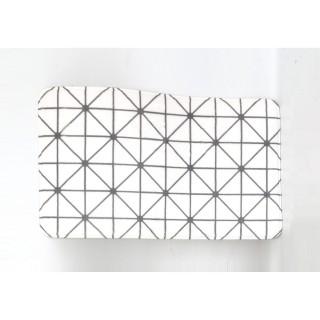 Tapis de salle de bain design Géo - Blanc
