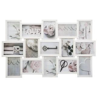 Pêle-mêle relief Patine - 15 Photos - Blanc