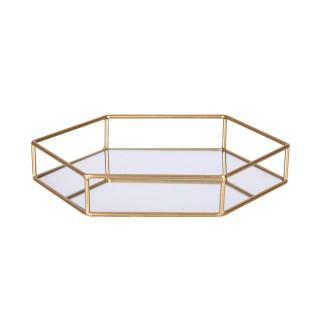 Plateau de déco design métal Gold Home - Doré