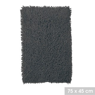 Tapis de salle de bain moelleux Bolbo - L. 75 x l. 45 cm - Noir