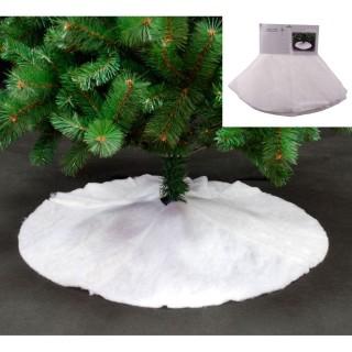Tapis pour sapin de Noël rond Cosychristmas - Blanc