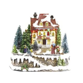 Village de Noël lumineux - Sapin animé