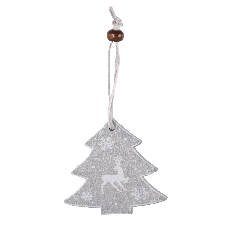 Sapin De Noel Suspendu En Bois 2 décorations sapin de noël bois sapin cosychristmas - gris