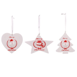 3 Décoration de sapin de Noël tradi Cosychristmas - Blanc