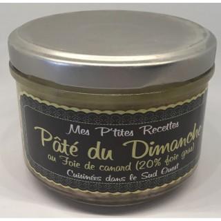 Pâté du Dimanche au foie gras - Cuisiné dans le Sud Ouest - France - Mes P'tites Recettes - pot 200g