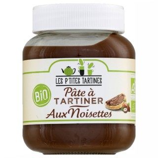 Pâte à tartiner BIO aux noisette - Les P'tites Tartines - pot 350g
