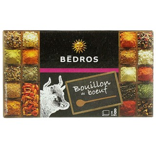 Bouillon de boeuf - Bedros - 8 cubes - paquet 80g
