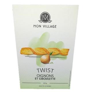 Twist apéritifs Oignons Ciboulette - Mon Village - boîte 100g