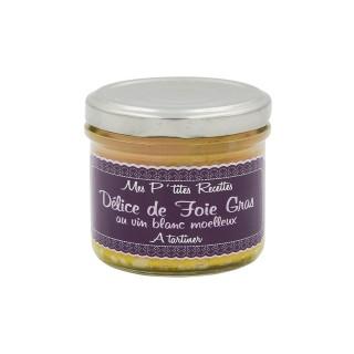Délice de foie gras au vin blanc moelleux - France - Mes P'tites Recettes - pot 100g
