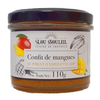 Confit de mangues au Piment d'Espelette AOP - Lou soleil - pot 110g