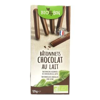 Biscuits batonnet chocolat lait BIO - Bioalbon - paquet 125g