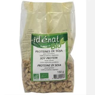 Protéines de soja gros morceaux BIO 100% protéines végétales - Idénat - paquet 150g