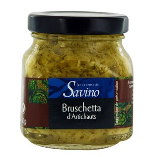 Bruschetta d'artichauts - Les Saveurs de Savino - pot 140g