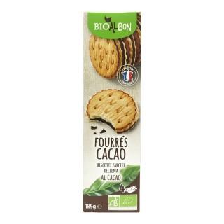 Biscuits fourrés cacao BIO fabriqué en France - Bioalbon - paquet 185g