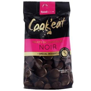 Palets de chocolat noir - spécial dessert - Cook'eat - sachet 200g