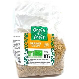 Graines de lin BIO - Grain de Frais - paquet 250g