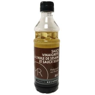 Sauce vinaigrette à l'huile de sésame et sauce soja - Fabriquée en France - MR - Bouteille 350ml