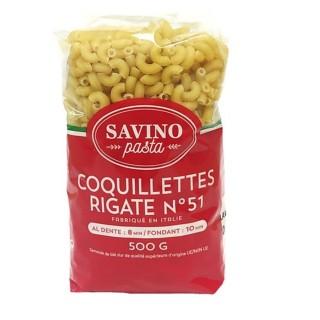 Pâtes Coquillettes Rigate n°51 - Savino Pasta - paquet 500g