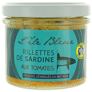 Rillettes de sardine MSC à la tomates - L'ile Bleue - pot 100g