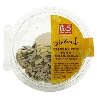 Mélange pour salade pignon de pin, graines de tournesol, graines de courge - B&S - boîte 60g