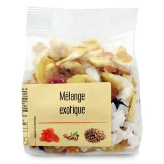 Mélange exotique fruits secs et fruits déshydratés - Agidra - paquet 150g