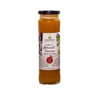 Coulis d'abricot et pomme - Mont du Lyonnais - Terr'étic fruit du travail paysan - bocal 156ml