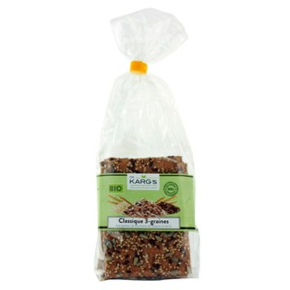 Crackers 3 graines BIO - Dr Karg's - paquet 200g
