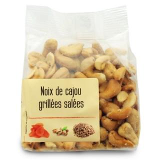 Noix de cajou grillées salées - Agidra - paquet 200g