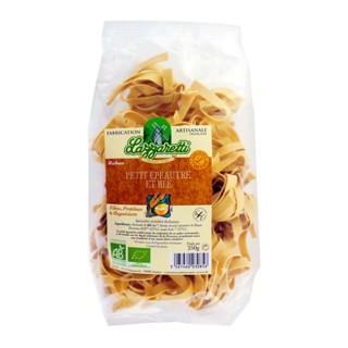 Pâtes ruban petit épeautre et blé BIO - Lazzaretti - paquet 250g