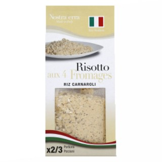 Risotto aux 4 fromages - Riz carnaroli - Nostraterra - boîte 250g
