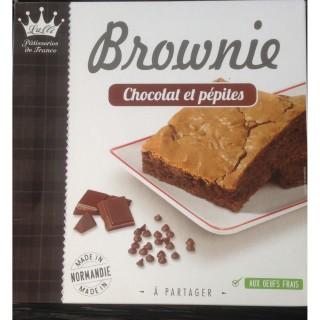Brownie chocolat et pépites de chocolat - Lulli pâtisserie de France - paquet 285g