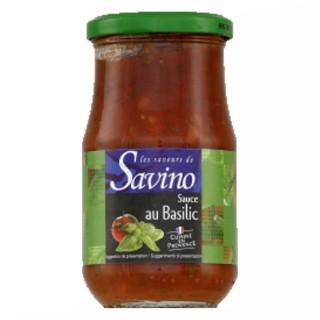 Sauce au basilic cuisinée en Provence - France - Les Saveurs de Savino - pot 350g