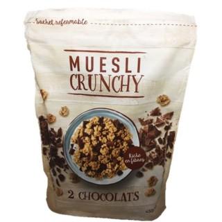 Muesli croustillant aux 2 chocolats - paquet 450g