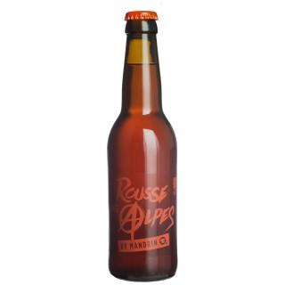 Bière artisanale Rousse des Alpes by Mandrin - 33cl 5% alc./Vol- Brasserie du Dauphiné - Médaille Argent WBA 2018