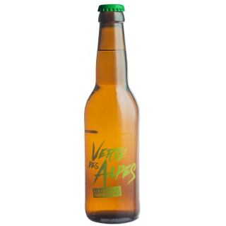 Bière artisanale Verte des Alpes by Mandrin à la liqueur de Chartreuse verte 33cl 4,8% alc./Vol- Brasserie du Dauphiné