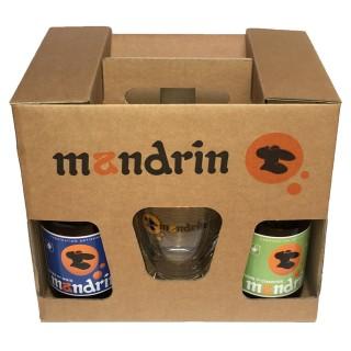 Coffret cadeau 4x33cl Bières artisanales Mandrin + 2 verres Mandrin 25cl - Brasserie du Dauphiné