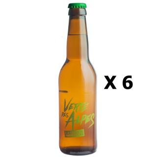 Lot 6x33cl - Bière artisanale Verte des Alpes by Mandrin à la liqueur de Chartreuse verte 4,8% alc./Vol - Brasserie du Dauphiné