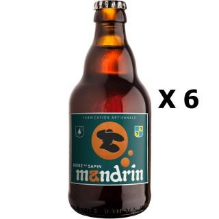 Lot 6x33cl - Bière artisanale Mandrin au Sapin - 33cl 8% alc./Vol- Brasserie du Dauphiné