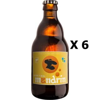 Lot 6x33cl - Bière artisanale Mandrin au Miel - 33cl 4,8% alc./Vol- Brasserie du Dauphiné