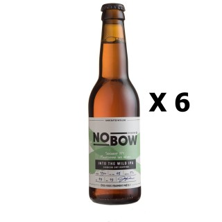 Lot 6x33cl - Bière artisanale Nobow Into The Wild IPA by Mandrin - 33cl 6% alc./Vol- Brasserie du Dauphiné