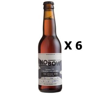 Lot 6x33cl - Bière artisanale Nobow The Smoke King by Mandrin - 33cl 4,8% alc./Vol- Brasserie du Dauphiné