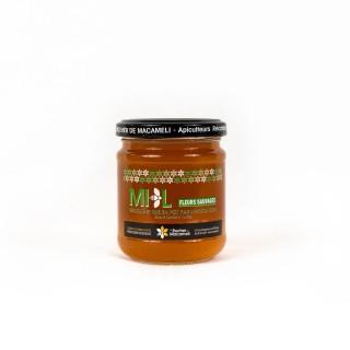Miel de Fleurs Sauvages - Monts du Lyonnais - Rhône Alpes - Le Rucher de Macameli - pot 250g