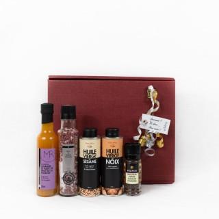 Coffret Cadeau Assaisonner comme un Chef - Idée cadeau - Boîte cadeau écologique - 5 produits